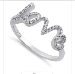 All we need is LOVE!! Sterling silver 925